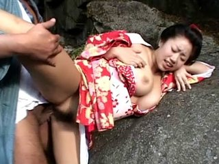 Chichihime and her juggs in extreme cosplay outdoor fucking