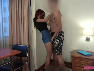 Cute chick in glasses gets creampied