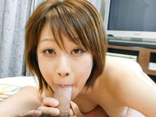 Gorgeous Haruka Sasano pleases a huge dick expertly