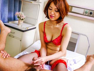 Insolent Erika Nishino enjoys cock with pleasure